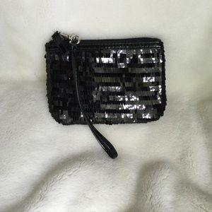 Charming Charlie Black Sequin Wristlet
